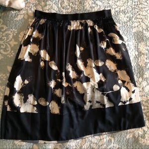Dresses & Skirts - Pure DKNY Painted Silk A Line Skirt. Size 10.